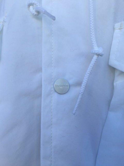 SASSAFRAS:Digs Crew Jacket /white nylon