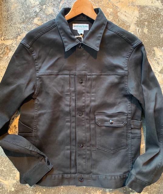 Gardener Jacket -black pique- :sassafras