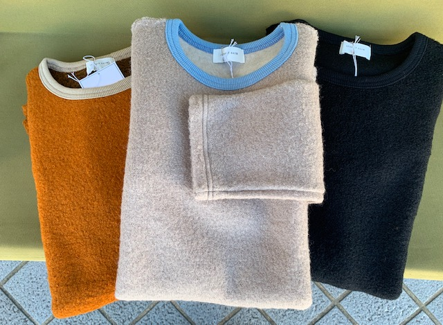 New Zealand wool sheep crew sweater /spinnerbait