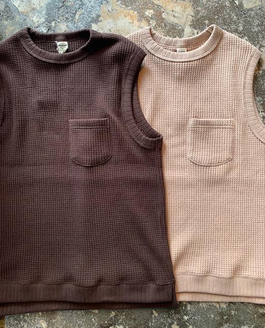 jackman: waffle vest 20SS new colors