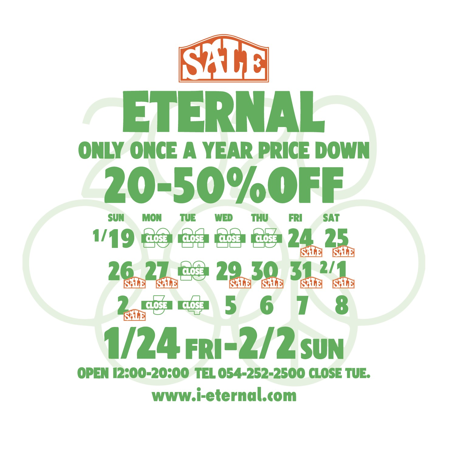 ETERNAL sale 2020 -1/24~2/2 –