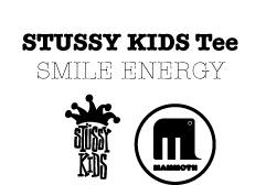 smile energy :stussy KIDS tee