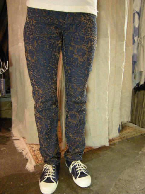 フロッキーデニム 5P stone pants