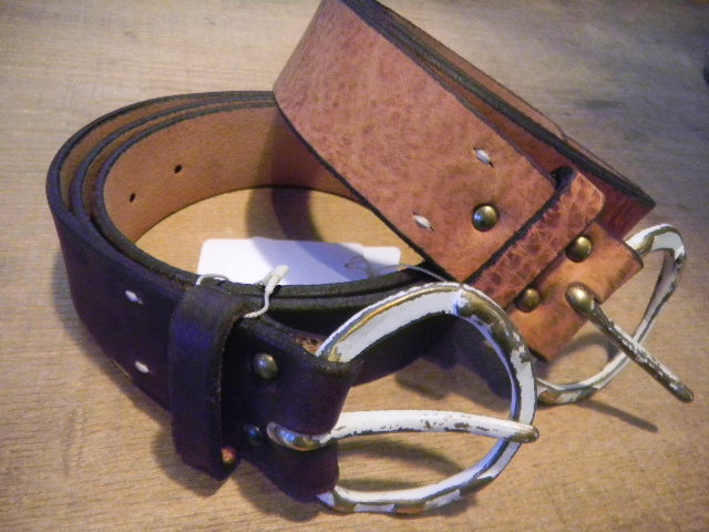 antique leather happy belt