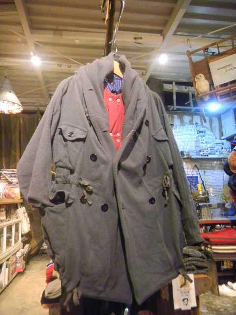 vintage melton ring coat
