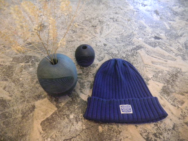 Indigo cotton knitcap