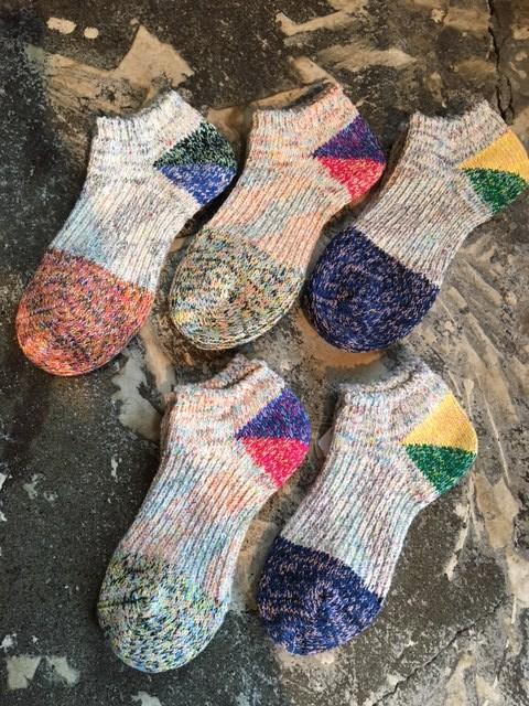 ankle heel 2tone socks:kapital