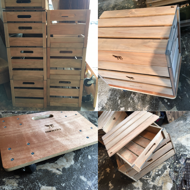 COWBOOKS: wood box