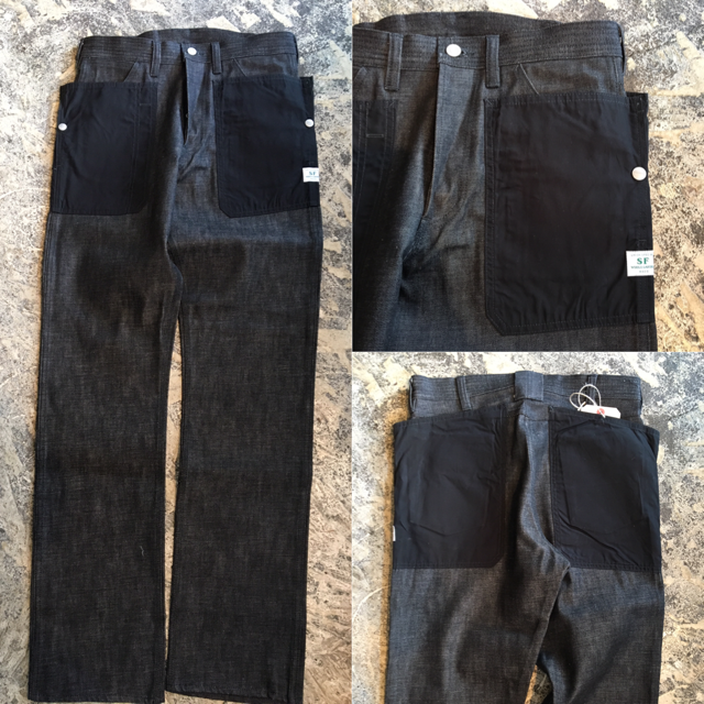 SASSAFRAS/Fall leaf pants:black denim
