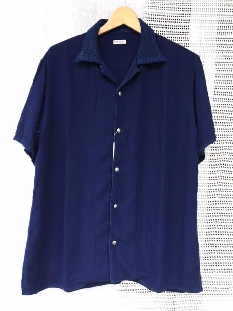 indigo rayon aloha shirt:kapital