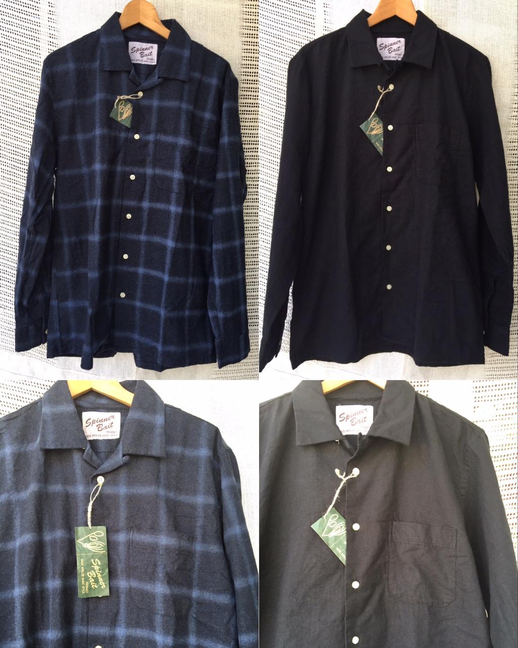 open collar shirts: spinnerbait