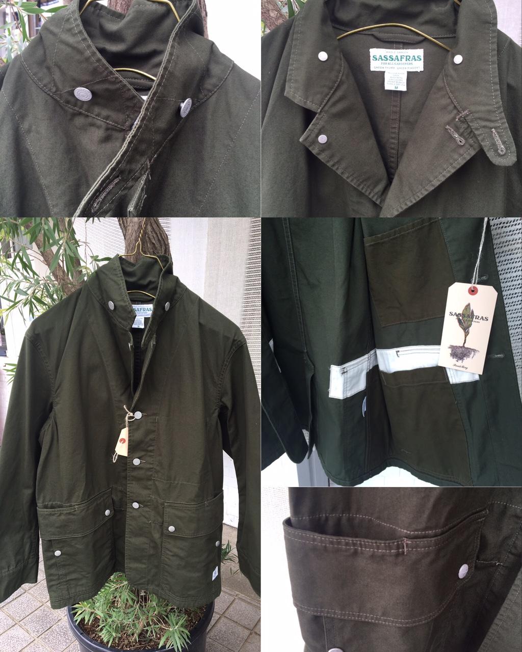 Fall leaf jacket : SASSAFRAS 2017AW
