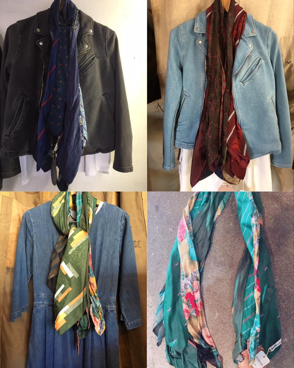 Silk tie remake stole