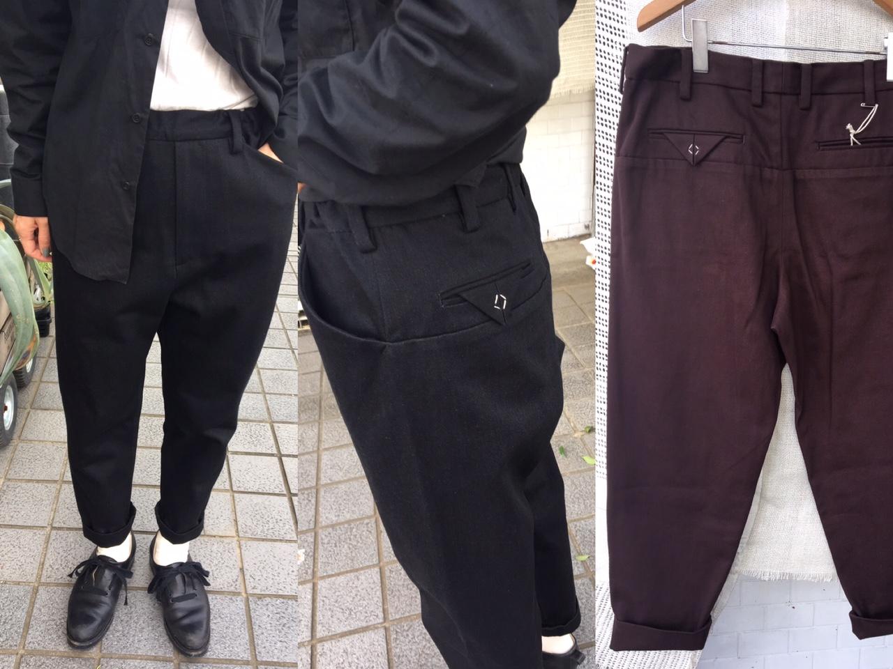 SUNSEA:Vintage Cotton Pants