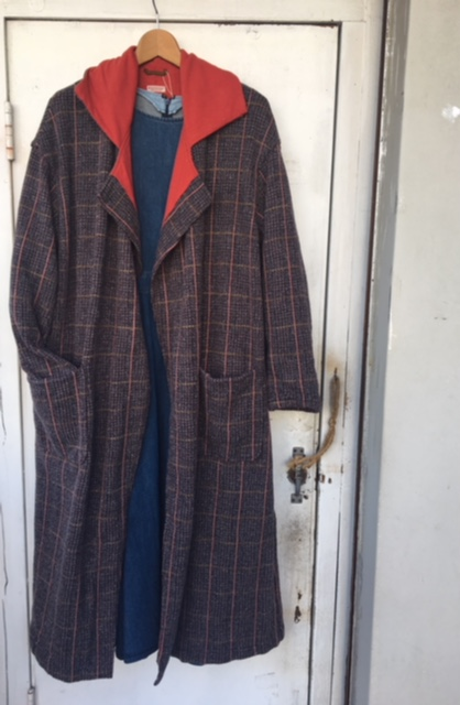 Tweed tenjiku shepard cape coat: kapital
