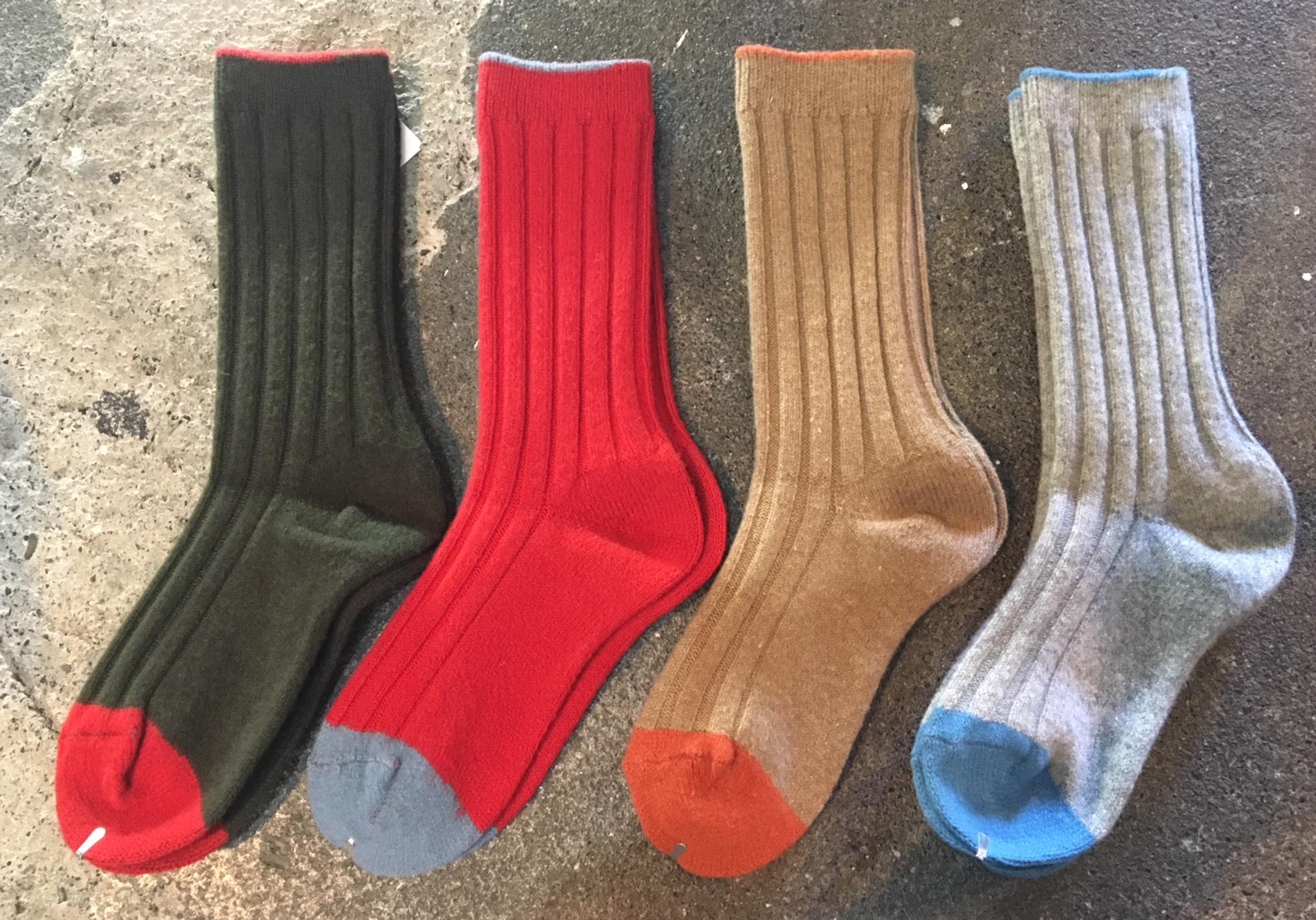 wool rib socks :kapital
