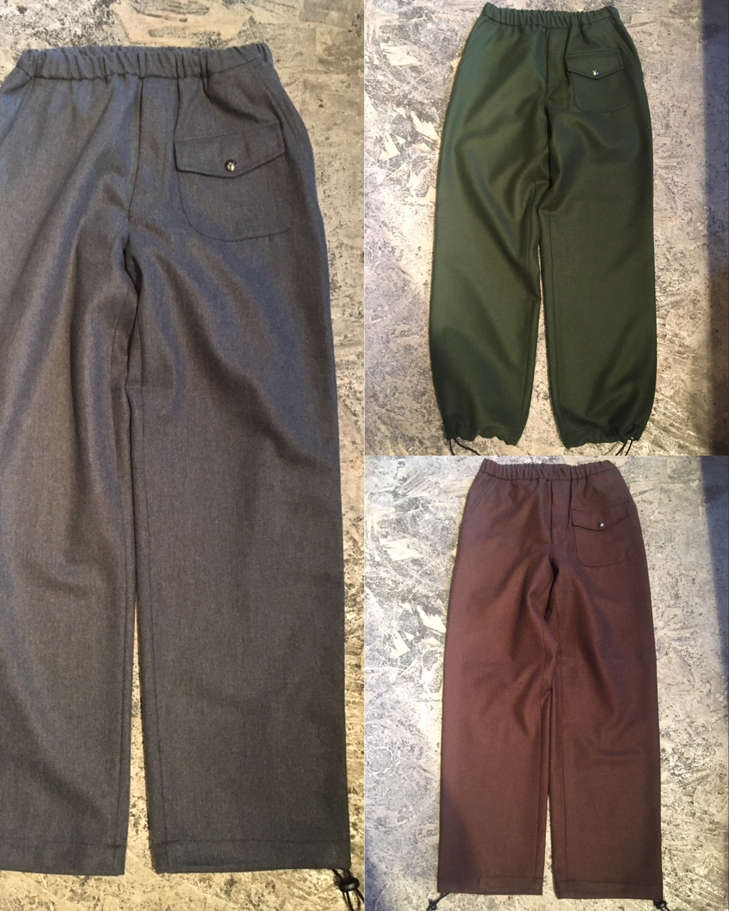 ceasters: wool jogger trousers /Portugal made