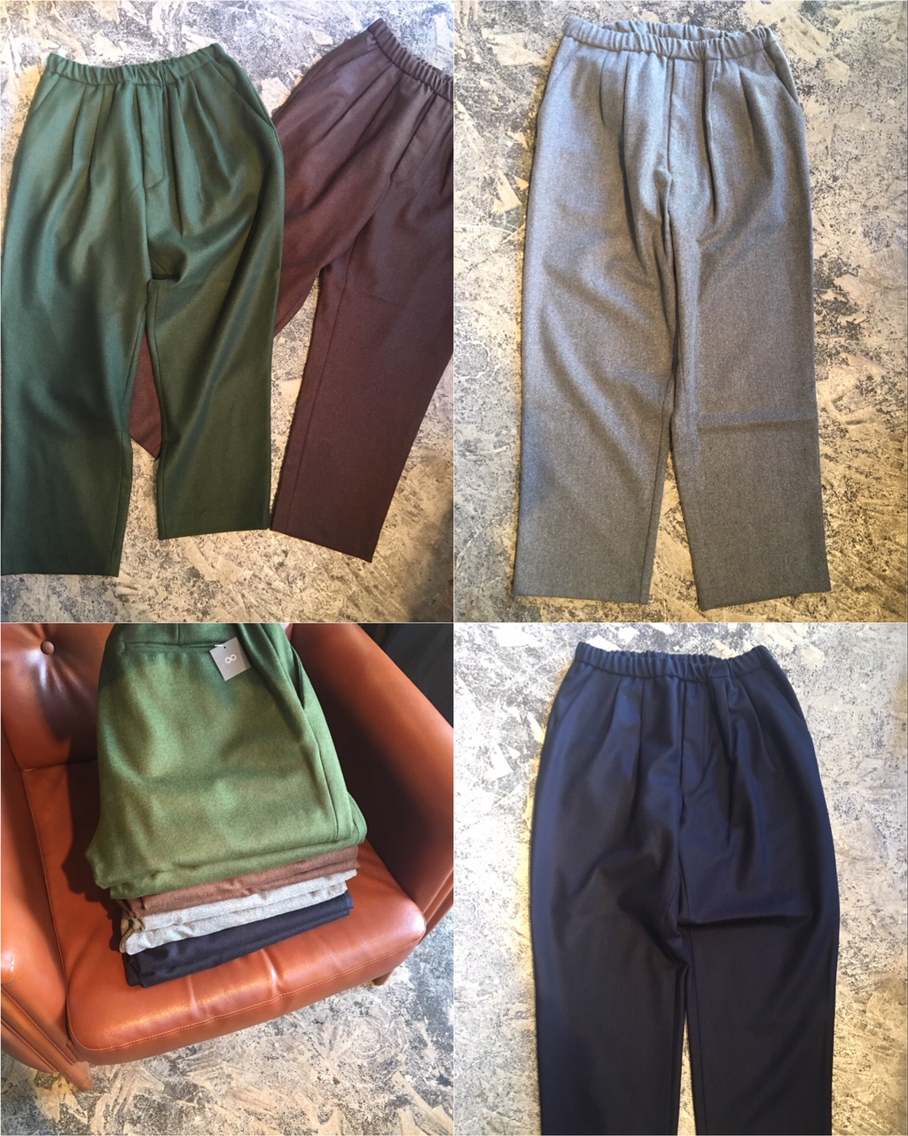 Ceasters :wool 2pleats easy trousers : Portugal made